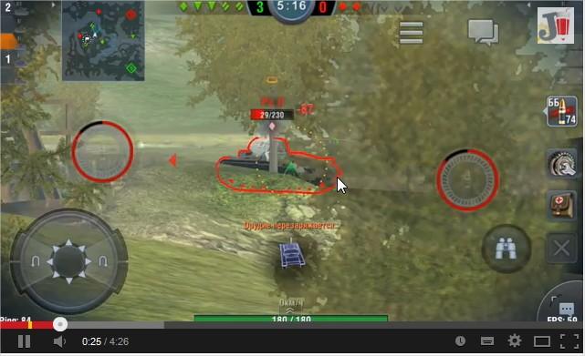 Обзор World of Tanks Blitz для iPhone, iPad и Android + где скачать - YouTube - Mozilla Firefox